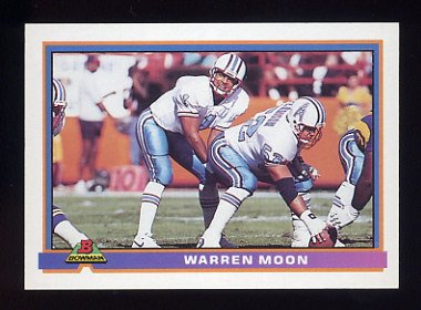 1991 Bowman Football #180 Warren Moon - Houston Oilers