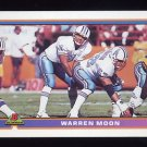 1991 Bowman Football #180 Warren Moon - Houston Oilers