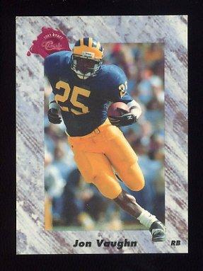 1991 Classic Four Sport Football #221 Jon Vaughn - New England Patriots