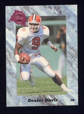 1991 Classic Four Sport Football #216 Dexter Davis - Phoenix Cardinals