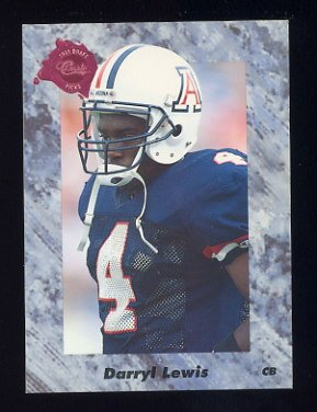 1991 Classic Four Sport Football #134 Darryl Lewis - Houston Oilers