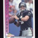 1991 Pacific Football #551 Brett Favre RC - Atlanta Falcons