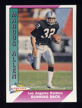 1991 Pacific Football #225 Marcus Allen - Los Angeles Raiders