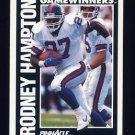 1991 Pinnacle Football #371 Rodney Hampton - New York Giants