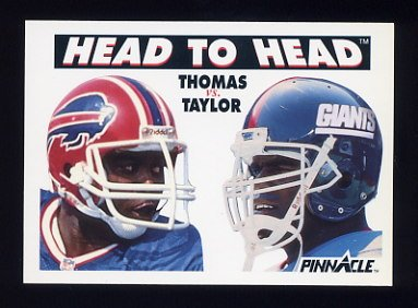 1991 Pinnacle Football #354 Head to Head Thurman Thomas / Lawrence Taylor