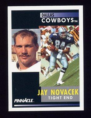 1991 Pinnacle Football #350 Jay Novacek - Dallas Cowboys