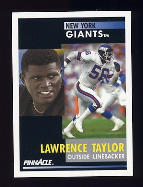 1991 Pinnacle Football #273 Lawrence Taylor - New York Giants