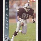 1992 Pacific Football #146 Tim Brown - Los Angeles Raiders