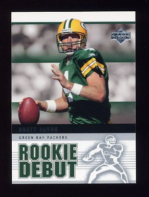 2005 Upper Deck Rookie Debut Football #035 Brett Favre - Green Bay Packers