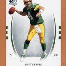 2007 SP Authentic Football #010 Brett Favre - Green Bay Packers