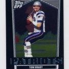2007 Topps Draft Picks and Prospects Football Chrome Black #004 Tom Brady - New England Patriots