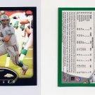 2002 Topps Chrome Football Refractors Insert #114 Jay Fiedler - Miami Dolphins 155/599