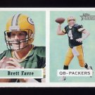 2002 Topps Heritage Football Black Backs Insert #154 Brett Favre - Green Bay Packers