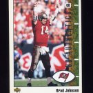 2002 UD Authentics Football #085 Brad Johnson - Tampa Bay Buccaneers