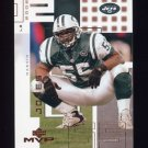 2002 Upper Deck MVP Football #166 Marvin Jones - New York Jets