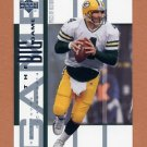 2002 UD Piece Of History Football The Big Game Insert #BG14 Brett Favre - Green Bay Packers