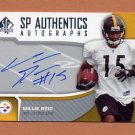 2006 SP Authentic Football Authentic Autographs #SPWR Willie Reid - Steelers