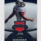 2008 Bowman Sterling #084 Rob Bironas - Tennessee Titans Game-Used Jersey /389
