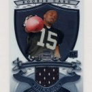 2007 Bowman Sterling Football #JLH1 Johnnie Lee Higgins RC - Oakland Raiders Game-Used Jersey