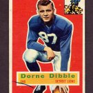 1956 Topps Football #032 Dorne Dibble - Detroit Lions