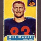 1956 Topps Football #083 Bill McColl - Chicago Bears