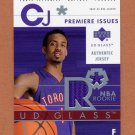 2002-03 UD Glass Premiere Issues Jersey #CJP Chris Jefferies RC - Raptors Game-Used Jersey