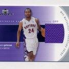 2002-03 Upper Deck MVP Materials Shooting Shirt #MP-S Morris Peterson - Raptors Game-Used