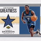 2002-03 UD Authentics Uniform Greatness #TB-U Terrell Brandon - Timberwolves Game-Used Jersey