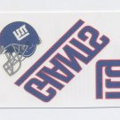 2008 Score Football Donruss Decals Tattoos #NYG New York Giants