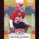 2008 Score Football Gold Zone Rookie Parallel Insert #358 Brandon Flowers - KC Chiefs 097/400