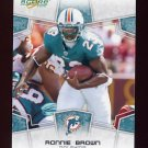 2008 Score Football Card #161 Ronnie Brown - Miami Dolphins