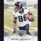 2008 Score Football Card #142 Dennis Northcutt - Jacksonville Jaguars