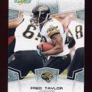 2008 Score Football Card #139 Fred Taylor - Jacksonville Jaguars