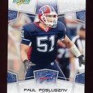 2008 Score Football Card #034 Paul Posluszny - Buffalo Bills