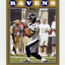 2008 Topps Football Gold Border #115 Derrick Mason - Baltimore Ravens 0944/2008