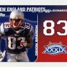 2008 Topps Football Dynasties #DYNDB Deion Branch - New England Patriots