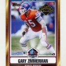 2008 Topps Football Hall Of Fame Class Of 2008 #HOFGZ Gary Zimmerman - Denver Broncos