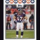 2008 Topps Football #276 John Lynch - Denver Broncos