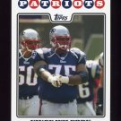 2008 Topps Football #201 Vince Wilfork - New England Patriots