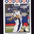 2008 Topps Football #185 Tony Scheffler - Denver Broncos