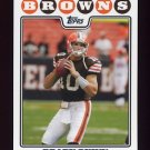 2008 Topps Football #045 Brady Quinn - Cleveland Browns