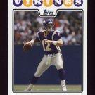 2008 Topps Football #031 Gus Frerotte - Minnesota Vikings