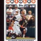 2008 Topps Baseball #312 Ramon Hernandez - Baltimore Orioles