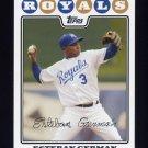 2008 Topps Baseball #189 Esteban German - Kansas City Royals