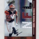 2008 Absolute Memorabilia #263 Jerome Simpson RC - Cincinnati Bengals Triple Game-Used AUTO /299