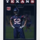 2008 Topps Chrome Football #TC254 Xavier Adibi RC - Houston Texans