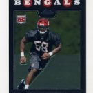 2008 Topps Chrome Football #TC252 Keith Rivers RC - Cincinnati Bengals