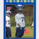 2008 Topps Chrome Blue Refractors #TC234 Red Bryant RC - Seattle Seahawks