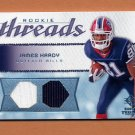 2008 SP Rookie Threads Rookie Threads 99 #RT-JH James Hardy Dual Game-Used Jersey 58/99