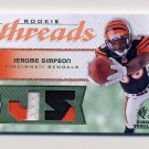 2008 SP Rookie Threads Rookie Threads 25 #RT-SI Jerome Simpson Dual 2 Color Game-Used JSY /25